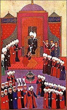 Υποδοχή και ενθρόνηση Μωάμεθ, Κωνσταντινούπολη Τοπ Καπή