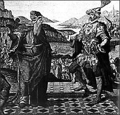 Ο Γεννάδιος συνομιλεί με το Μωάμεθ