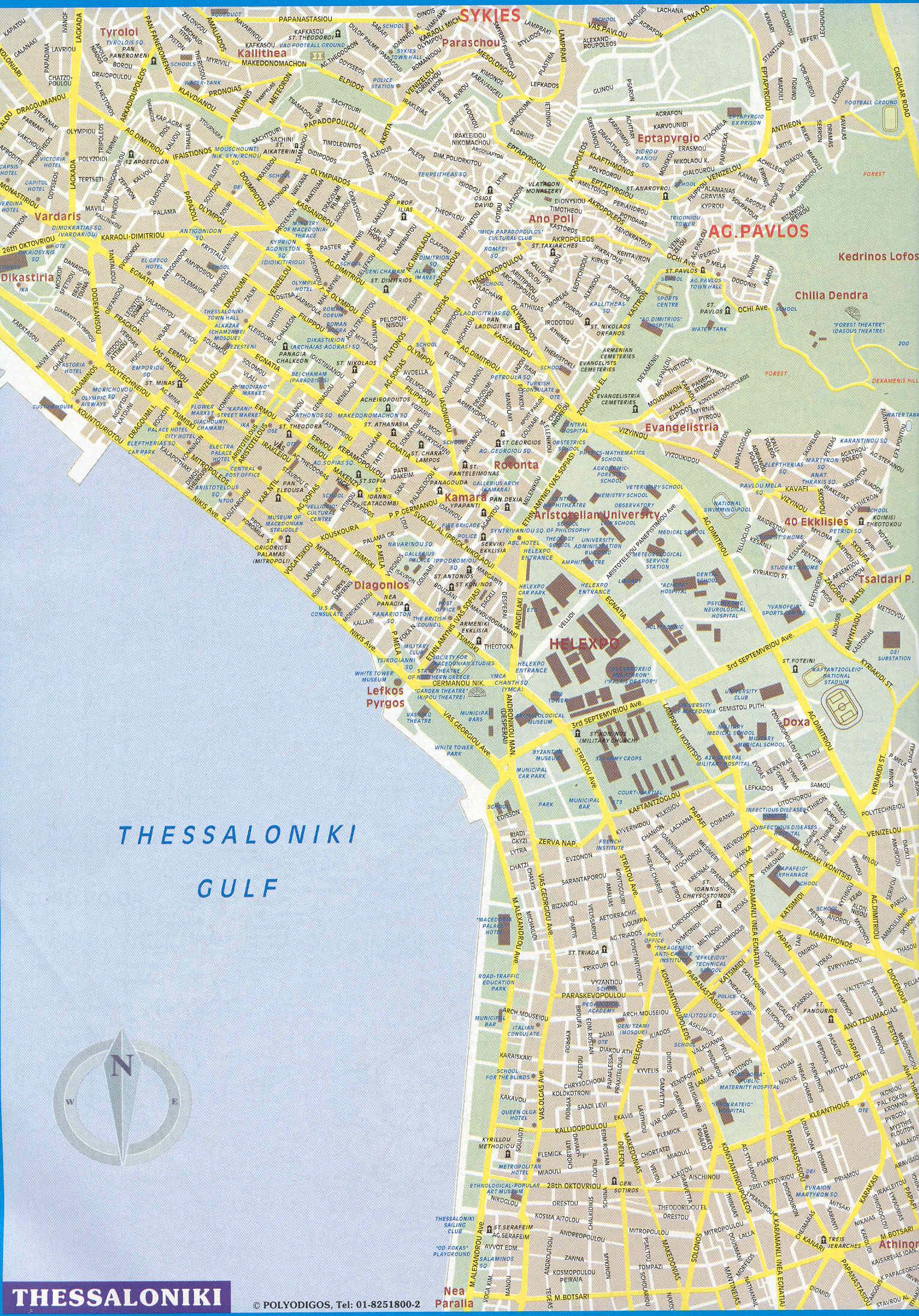 Thessaloníki plattegrond
